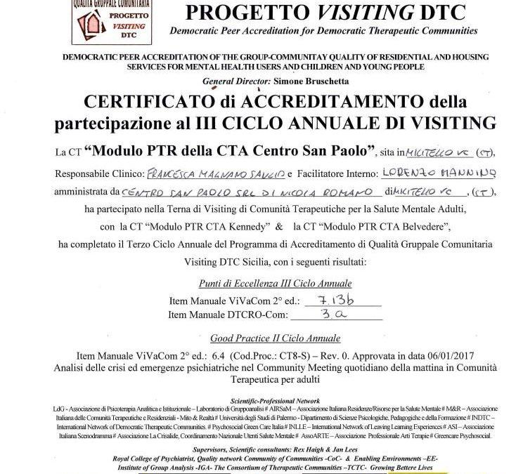 PROGETTO VISITING DTC SICILIA